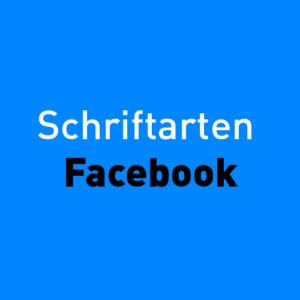 Schriftarten Facebook