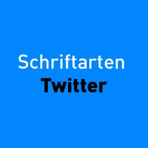 Schriftarten Twitter